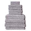 Fabbrica Home Diamond Jacquard Performance Core 10 Piece Towel Set