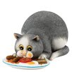 Enesco Comic and Curious Cats Full English Figurine
