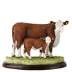 Enesco BFA Studio Hereford Cow and Calf Figurine