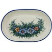 Arreola Designs Wild Field Pottery Polish Oval Boleslawiec Stoneware Serving Platter