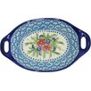 Arreola Designs Veronica Polish Pottery Boleslawiec Stoneware Baking Dish with Handles