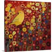 Canvas On Demand 'Canary in Red' by Jennifer Lommers Painting Print on Canvas