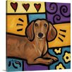 Canvas On Demand 'Dachshund Pop Art' by Eric Waugh Painting Print on Canvas
