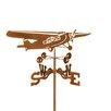 EZ Vane Inc Tri Motor Airplane Weathervane with Garden Mount