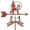 EZ Vane Inc Wolf Weathervane with Four Sided Mount