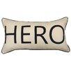 Artistic Linen Hero Worded Decorative Lumbar Pillow