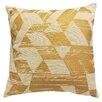 Artistic Linen Metallic Printed Throw Pillow