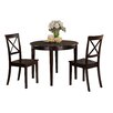 TTP Furnish Lancaster 3 Piece Dining Set