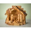 Earthwood LLC Olive Wood Grotto with Carved Figures