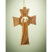 Earthwood LLC Olive Wood Cross with Nativity Ornament