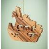 Earthwood LLC Olive Wood Noah's Ark Ornament