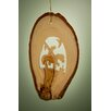 Earthwood LLC Olive Wood Ornament with End of Trail