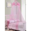 Casablanca Kids Buttons and Bows Kids Collapsible Hoop Sheer Bed Canopy