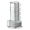 HIC Harold Import Co. 9 Piece Stackable Espresso Coffee Tea Set