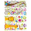 RetailSource Swirl Tree of Safari and Friends Wall Decal