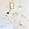 The Lovely Wall Company Tiny Confetti Triangles Wall Decal