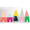 The Lovely Wall Company Hand Sketched Houses Wall Decal