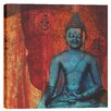 "Epic Graffiti ""Blue Buddha"" by Elena Ray Graphic Art on Canvas"