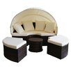 Magari Magari 4 Piece Daybed Seating Group with Ottoman and Cushions