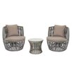 Magari Outdoor Furniture Complete 3 Piece Deep Seating Group