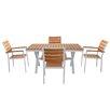Magari Aluminum 5 Piece Dining Set