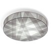 Bernd Unrecht Cross Lines 1 Light Flush Ceiling Light