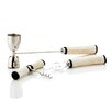 Viski Admiral 3 Piece Stainless Steel/Bone Bar Set