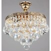 Maytoni Chandeliers Diamant Crystal Gala 4 Light Semi-Flush Ceiling Light