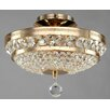 Maytoni Chandeliers Diamant Crystal Ottilia 3 Light Semi-Flush Ceiling Light