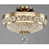 Maytoni Chandeliers Diamant Crystal Ottilia 3 Light Semi-Flush Ceiling Light
