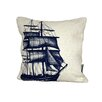 Cream Cornwall Packet Ship Scatter Cushion