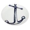 Cream Cornwall Maritime 26cm Anchor Plate