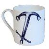 Cream Cornwall Maritime Anchor Mug