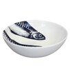 Cream Cornwall Maritime Mackerel Heads Cereal Bowl