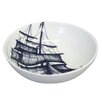 Cream Cornwall Maritime Packet Ship Cereal Bowl