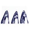 Cream Cornwall Mackerel Heads Painting Print