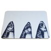 Cream Cornwall Mackerel Heads Coaster