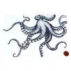 Cream Cornwall Octopus Graphic Art