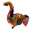 KMP GIFTS Vintage Sari Fabric Elephant Head Bust Wall Décor