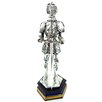 KMP GIFTS Plated Standing Medieval Knight with Sword Figurine