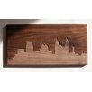 Dave Marcoullier Wood Routings City Skylines Solid Walnut Atlanta Skyline Routing Wall Art