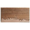 Dave Marcoullier Wood Routings City Skylines Solid Walnut New York City Skyline Routing Wall Art