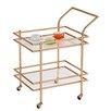 Design Guild Chrome Rolling Serving Cart