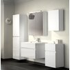 bad11® 70 cm Wandmontierter Waschtisch Pelagia mit Spiegel, Armatur und Schränke