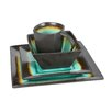 Haus Earthtone Square 16 Piece Dinnerware Set