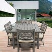 AMS Outdoor Chevron 7 Piece Dining Set with Cushions