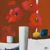 """DEInternationalGraphics """"Eclat rouge I"""" von Bernard Ott, Kunstdruck"""