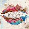 DEInternationalGraphics Kiss Kunstdruck von Patrick Cornée