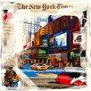 """DEInternationalGraphics """"Balade à New York"""" von MN.FF, Grafikdruck"""