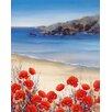 """DEInternationalGraphics """"Poppies by the Sea"""" von Hilary Mayes, Kunstdruck"""